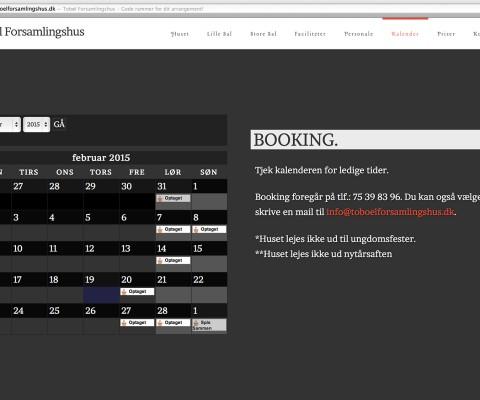 Tobøl Forsamlingshus - Kalender